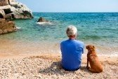 8056524-elderly-man-with-his-dog-at-the-summer-beach