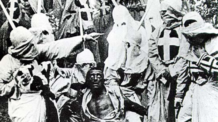 Birth-of-a-nation-klan-and-black-man--crop