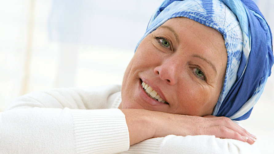Happy cancer patients