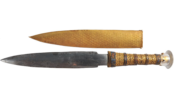 King Tut's dagger came from space, discover researchers