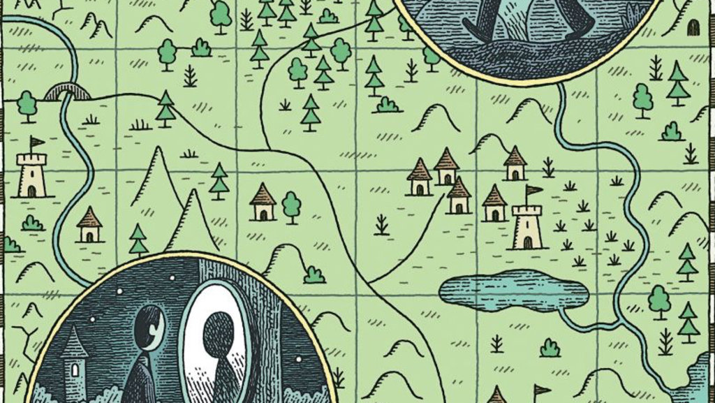 The New Yorker Tells The Short Story Fable By Charles Yu With - New yorker map of the us