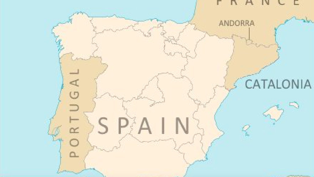 World Map Catalonia. This is what the map of Iberian peninsula may look like if Spain s  semi autonomous region Catalonia Catalunya were to become independent What an Independent Would Do Map Big Think