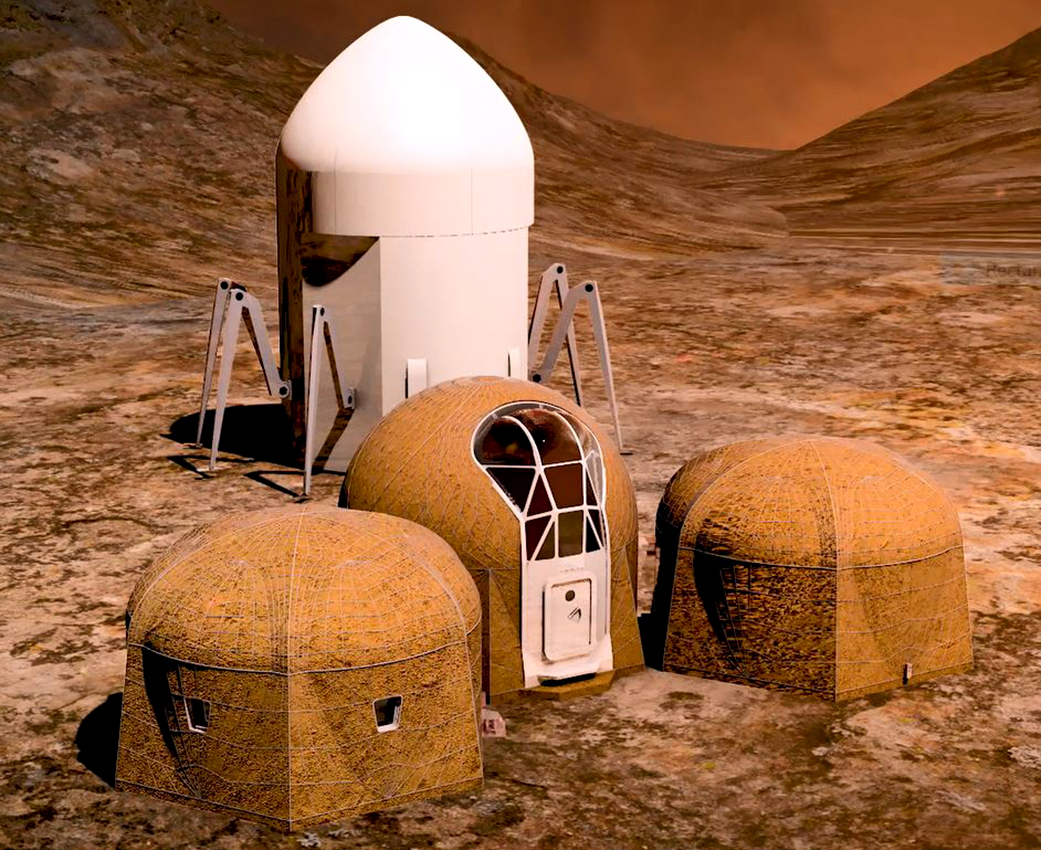 Imagine life on mars in buildings like these big think for Construction habitat