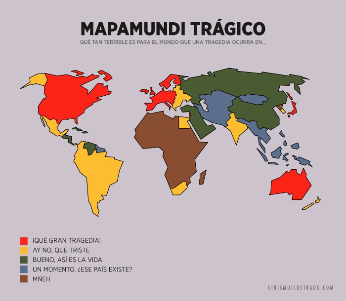 A Map of Empathy and Apathy Some Countries We Care for More than