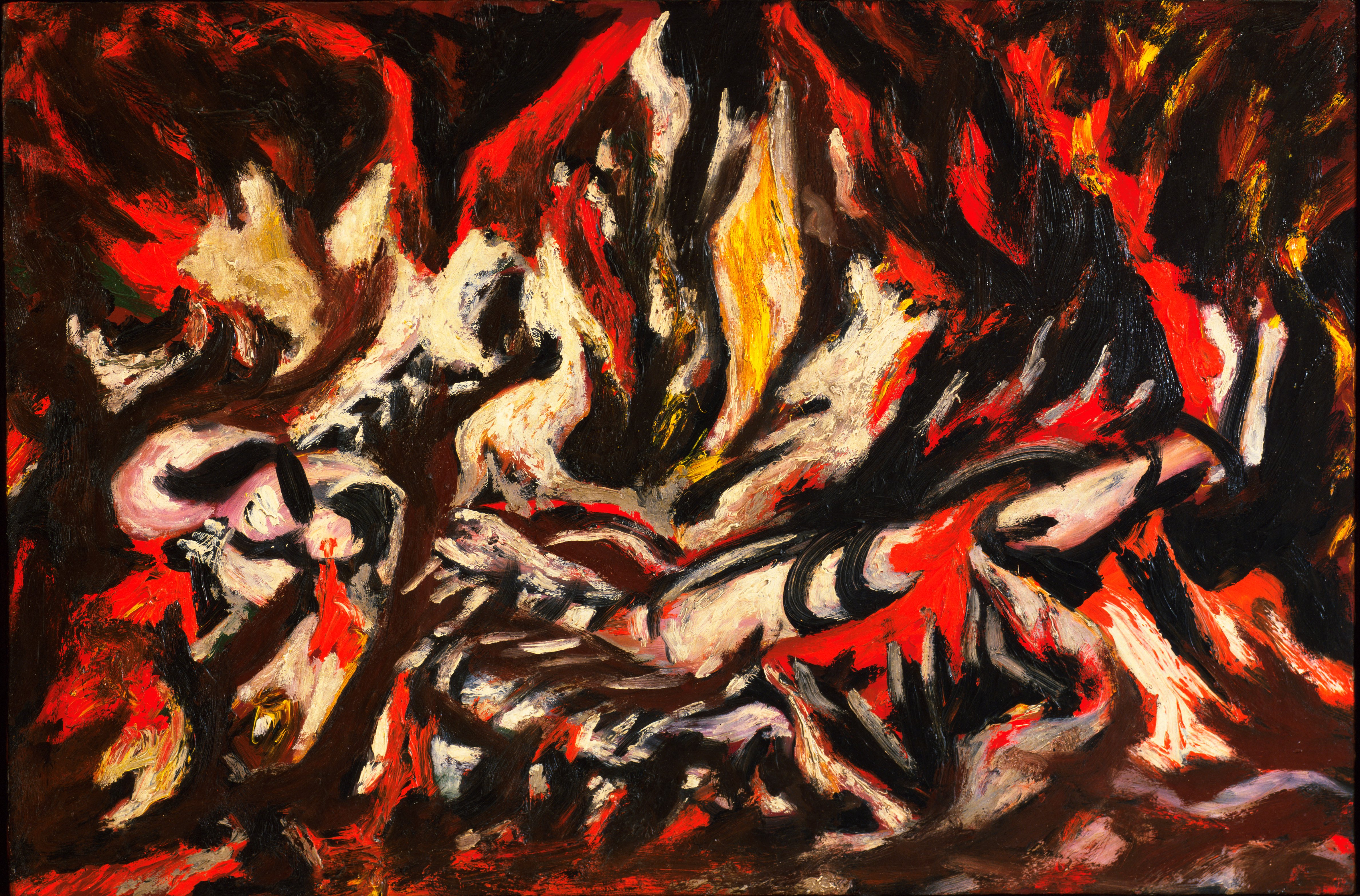 Is jackson pollock the most famous american artist we know for Famous pollock paintings
