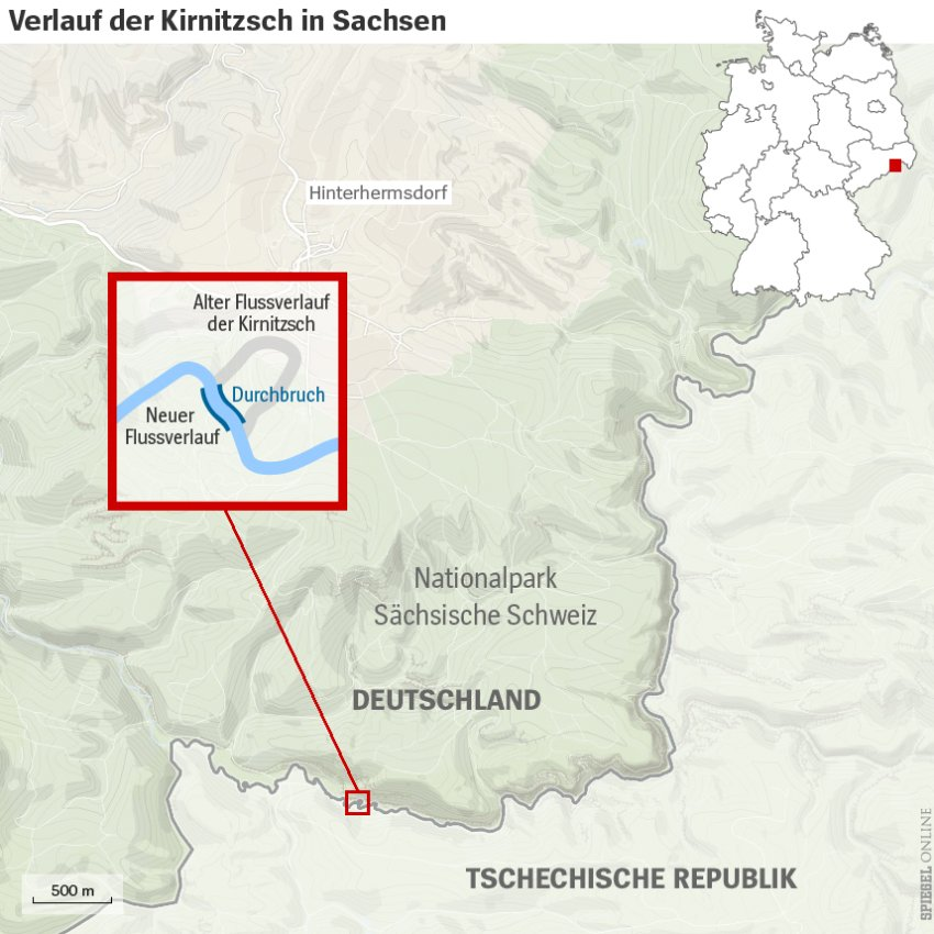 Germany Takes Czech Territory As Kirnitzsch River Changes Course - Czech river
