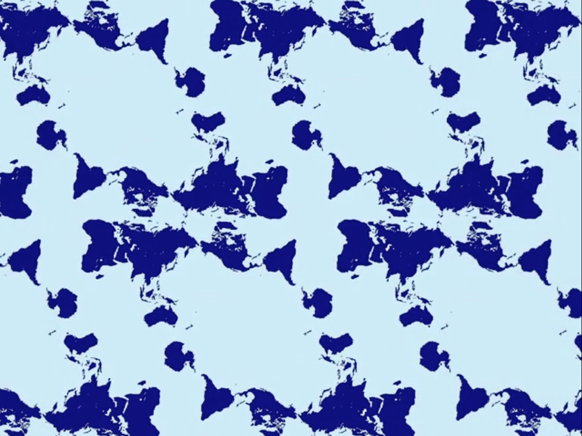 Award winning map shows a more accurate world big think from this map tiling new world maps can be formed with various regions at their center publicscrutiny Gallery