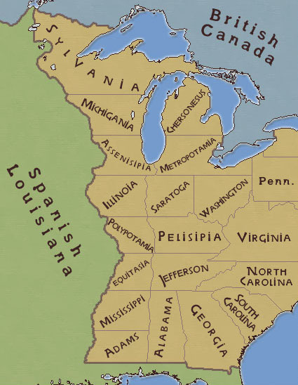 Jeffersons Absurd Plan For New Northwestern States Big Think - Northwestern us map