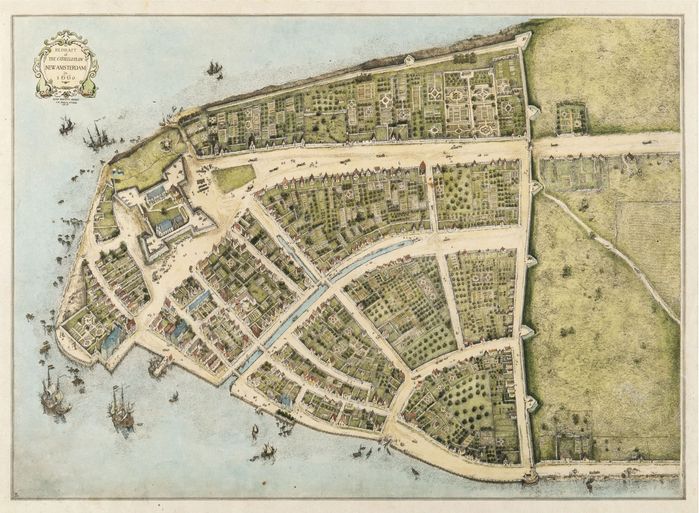 Map of NYC 1660