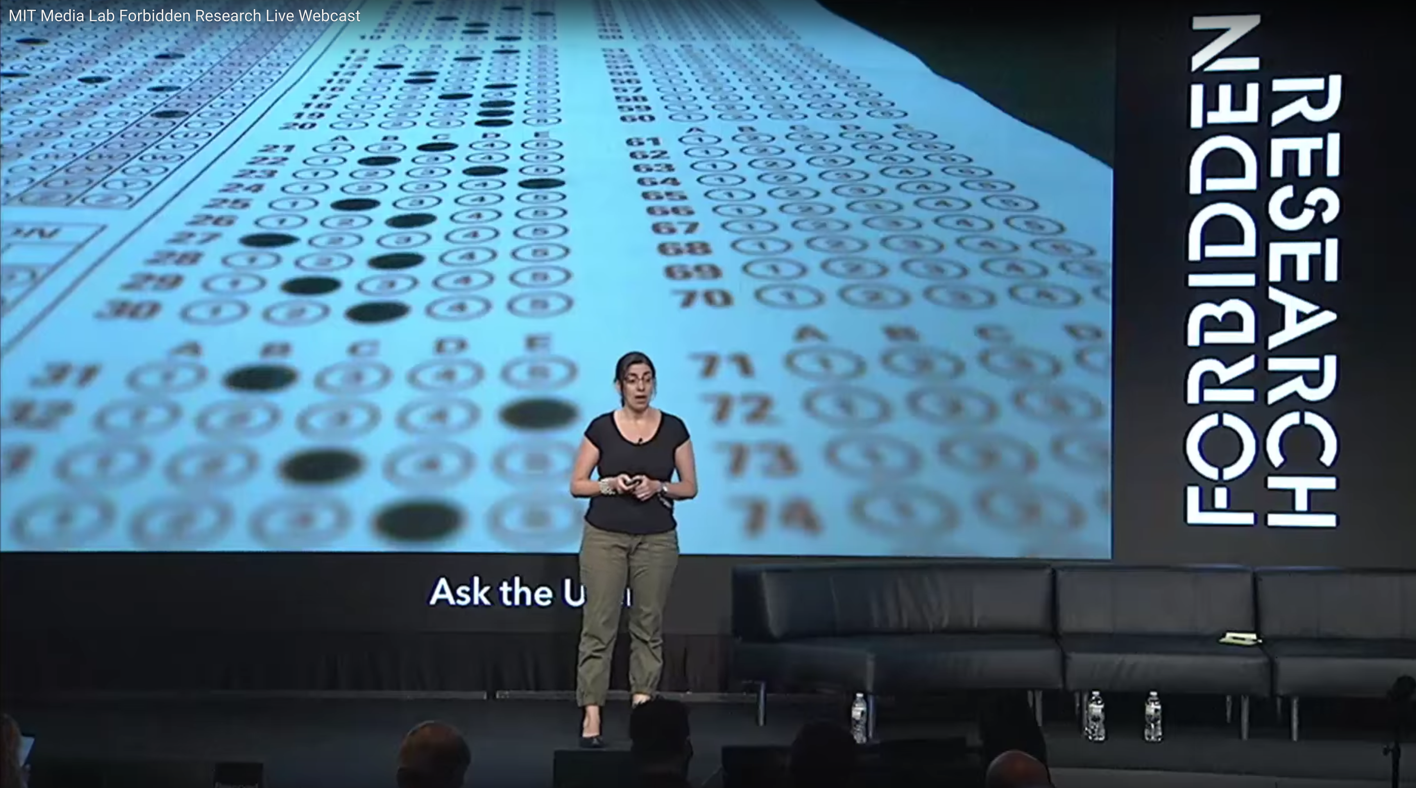 "MIT Media Lab's ""Forbidden Research"" conference 2016. Credit: MIT Media Lab, Youtube."
