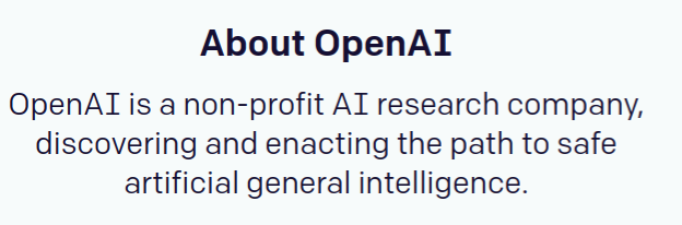 Screenshot from OpenAI.org, taken on May 26, 2017