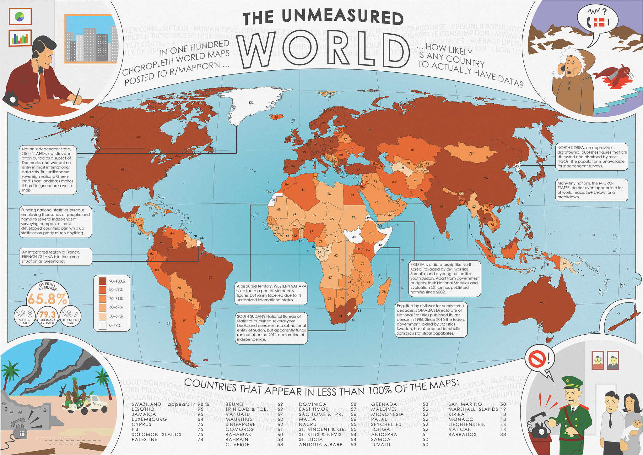 The worlds data holes quantified big think countries in the darkest shade of brown appear in more than 90 of the examined maps many countries achieve a near perfect score including france and the gumiabroncs Image collections