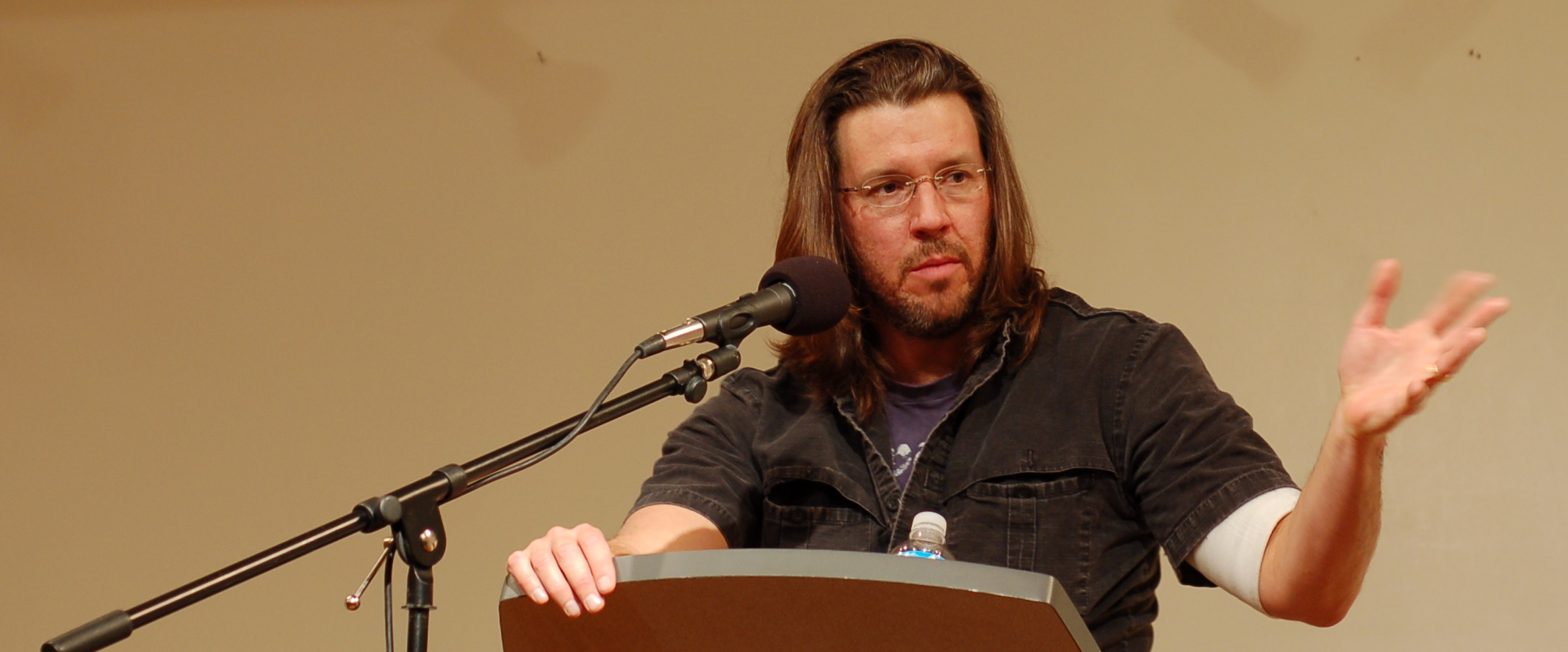 """david foster wallace essay this is water Home news this is water: what david foster wallace wanted us to think about   titled """"this is water,"""" he turned the traditional  americablog news is a."""