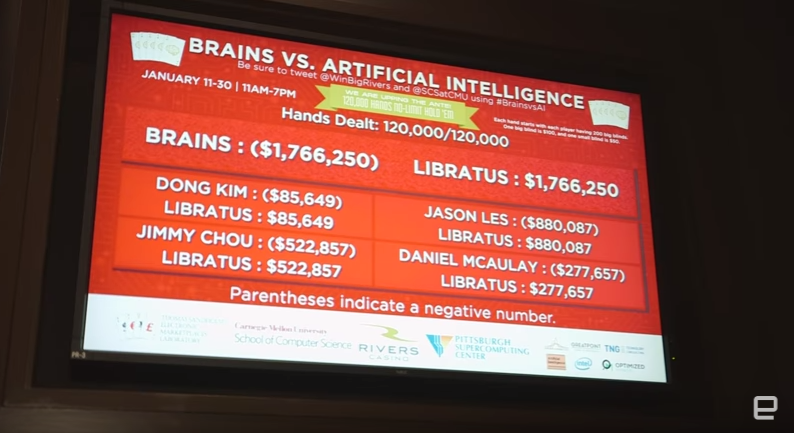 "Screenshot from Engadget's video, ""How AI beat the best poker players in the world."" Fair Use"