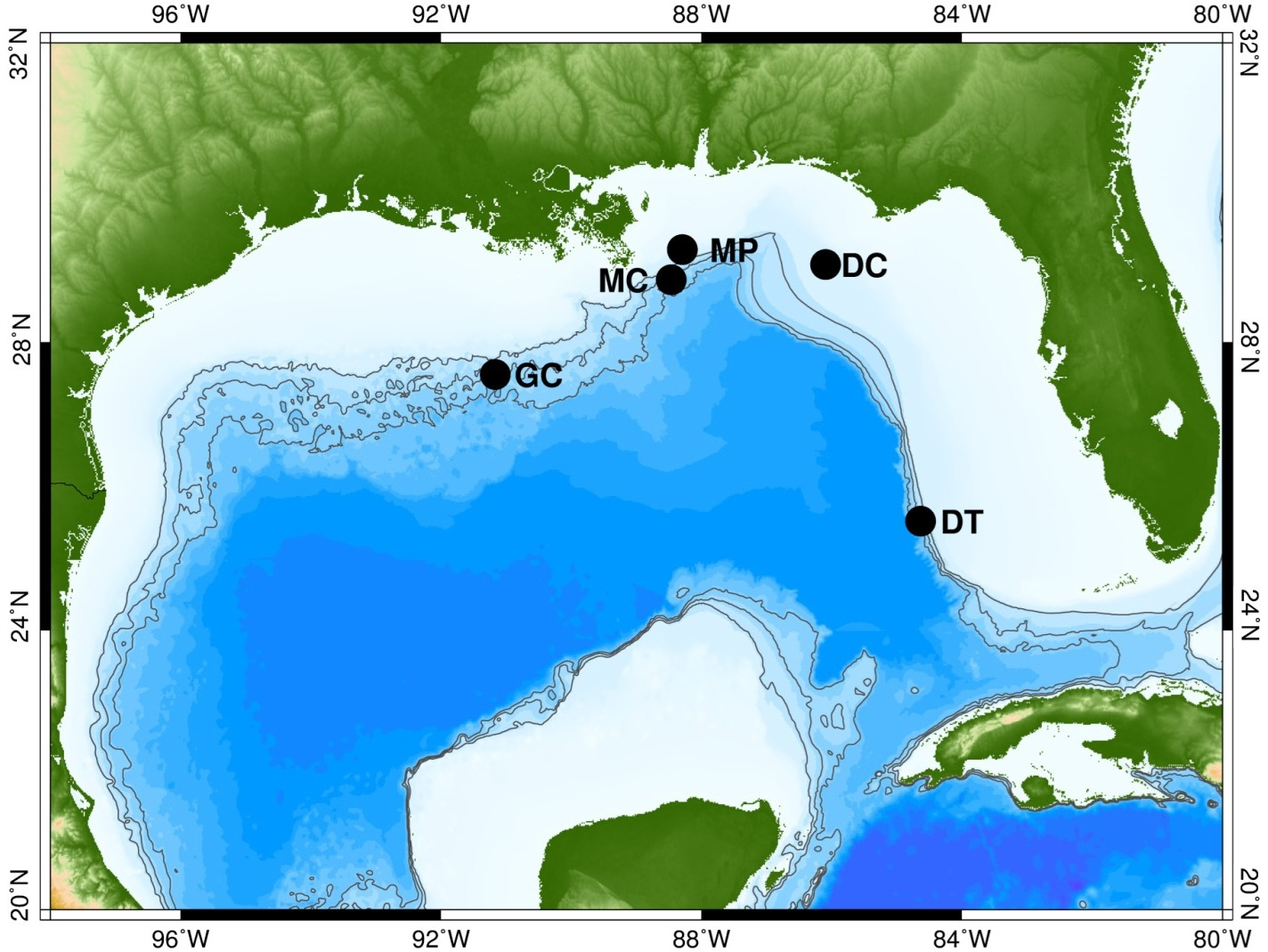 ocean-floor recording sites