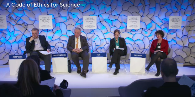 World Economic Forum panel on Code of Ethics for Science (screenshot)