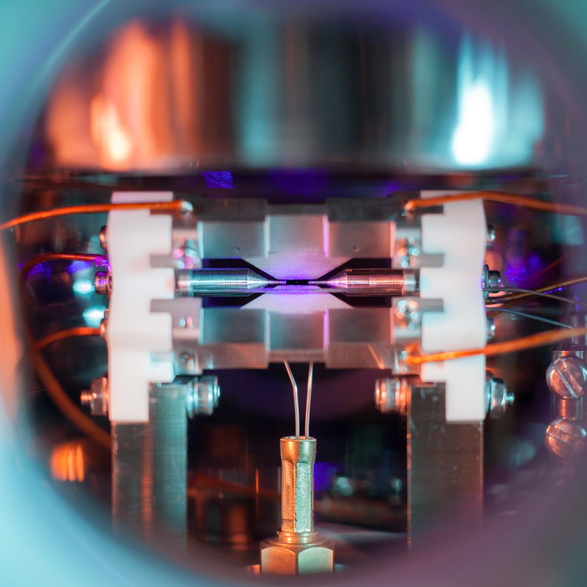 single atom photo by David Nadlinger
