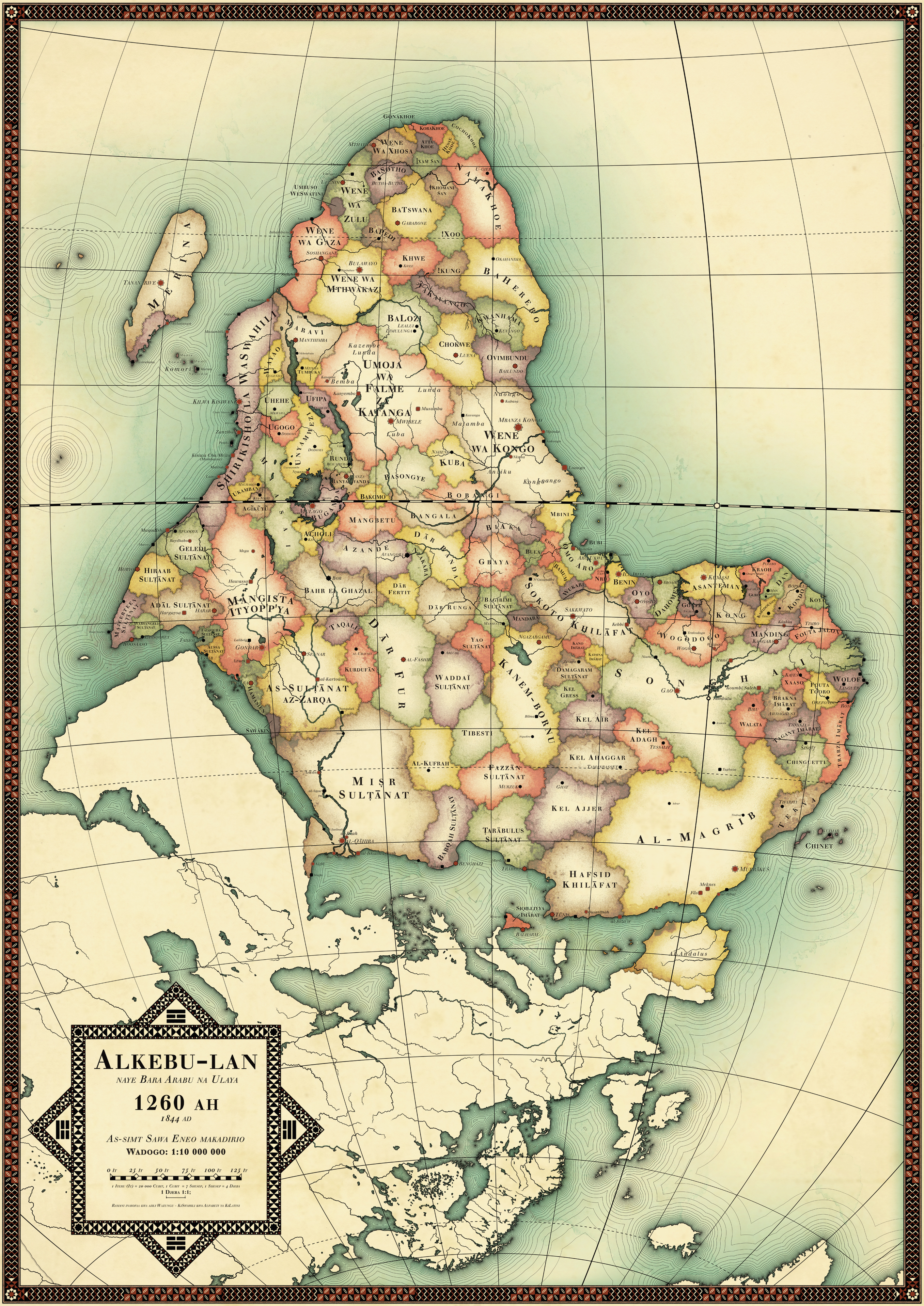 Africa Uncolonized A Detailed Look At An Alternate Continent - Map of us colonialism