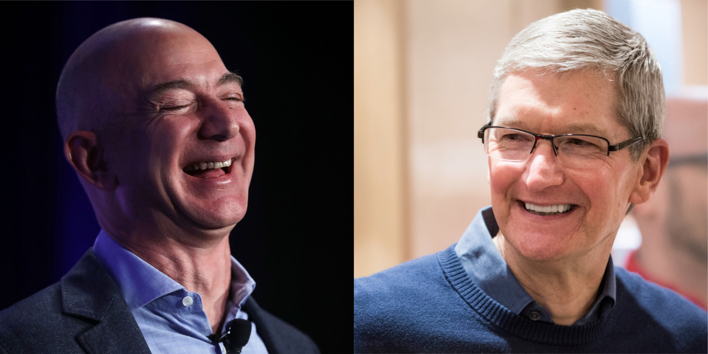 Bezos and Cook
