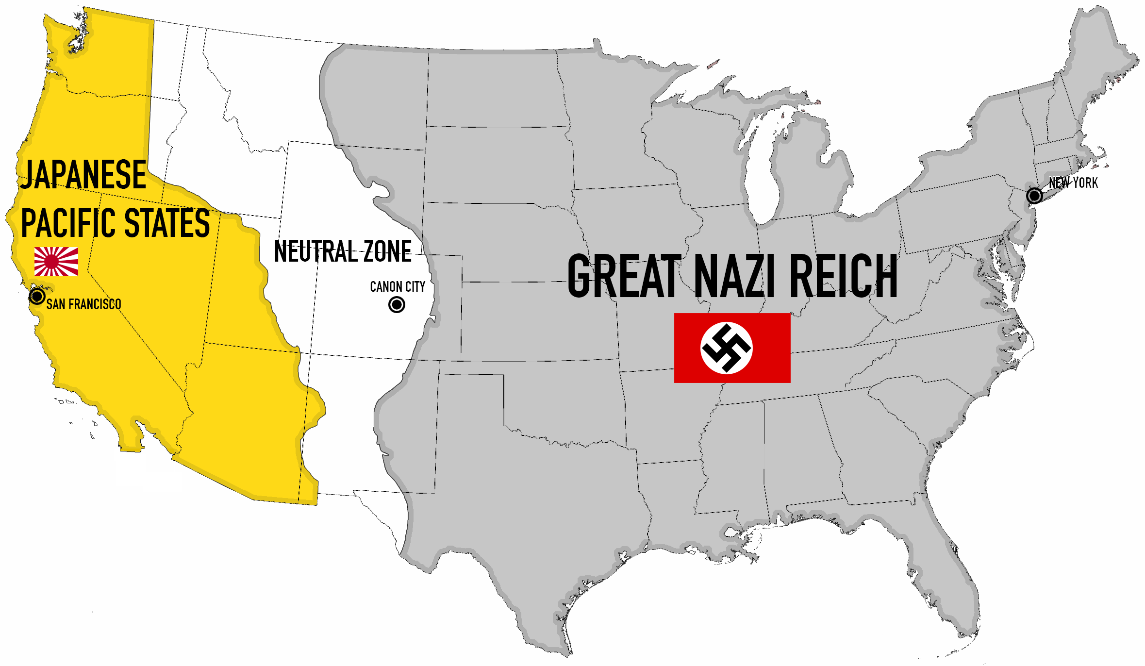 Map of Philip K Dicks Novel Man in the High Castle Big Think